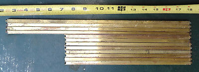 "8Qq04 Solid Brass Bars: 5/16"" Square, 8"" - 15"" Long, 4#6 Net Wt, Dzn Pieces Gc"