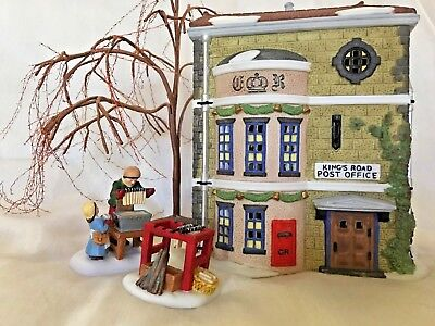 "Dept. 56  ""kings Road Post Office""  #58017.  Very Good.  With Light Cord."