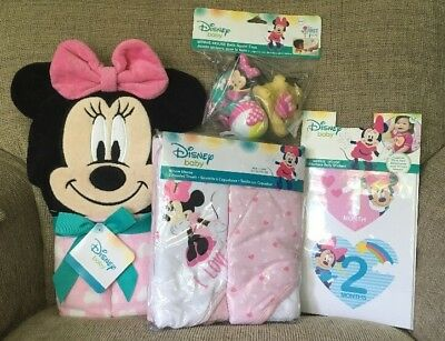 Disney Baby Minnie Mouse Baby Shower Gift Set 4 Packaged Items