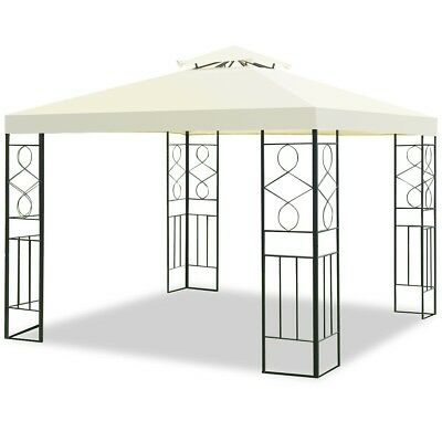 2 Tiers 10' Square Garden Gazebo Top Cover Roof Replacement Tent Canopy