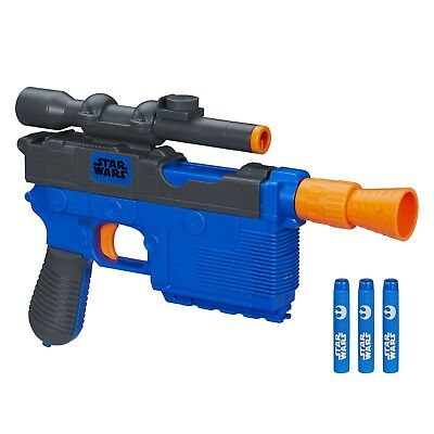 Star Wars Episode VII Nerf Han Solo Blaster Toy + 4 darts Boys Christmas Gift