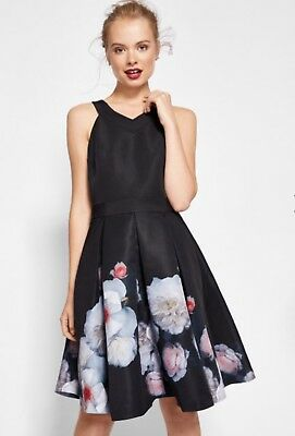 f3a2706b5d935 Ted Baker London Women US Size 6 Jelina Chelsea Floral Fit   Flare Dress NEW