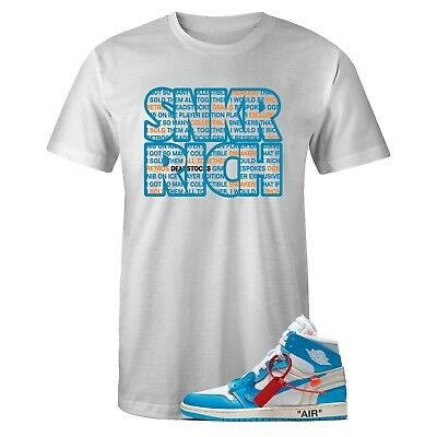 233090c69043 NEW STARVED WITH T Shirt for Nike Jordan UNC BLUE OFF WHITE -  25.99 ...