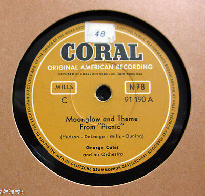 """Nice Price: George Cates - Moonglow An Theme From """"Picnic"""" / Rio Batucada CORAL"""