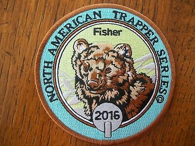 Pa Pennsylvania Game Fish  Commission Patch 2016 Fisher  North Am. Trapper