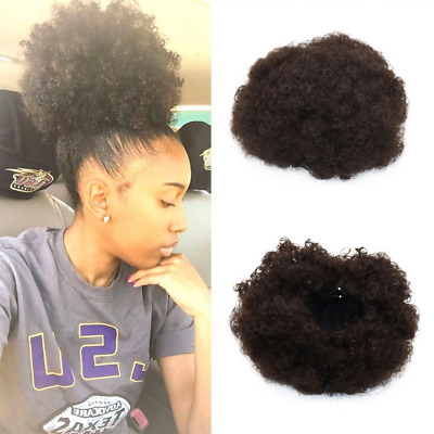 Synthetic Curly Wave Hair Clip In Ponytail Short Afro Kinky Curly Wrap Synthetic