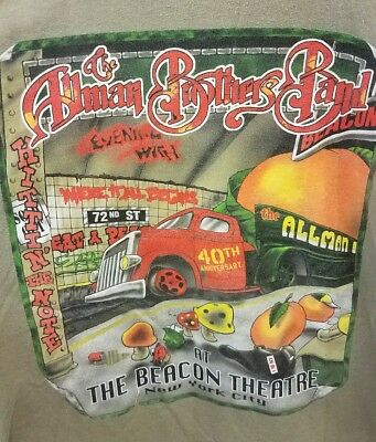RARE Allman Brothers 2XL Tee T Shirt Beacon Theatre NYC - 2007 Concert Tour