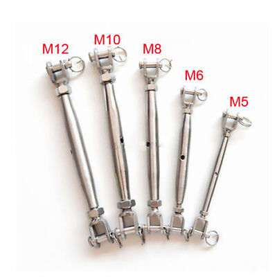 M5- M20 Jaw to Jaw Closed Body Turnbuckle 316 STAINLESS STEEL Rigging Screw