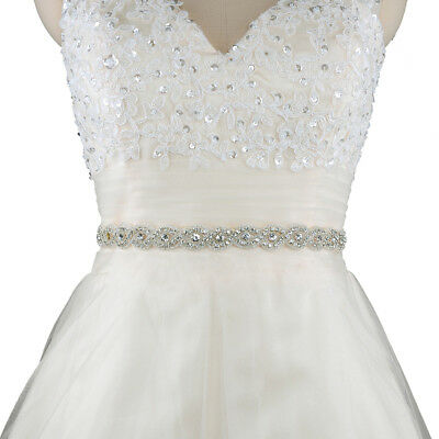 Wedding Bridal Crystal Rhinestone Waist Belt Girls Woman Dress Fashion Accessory