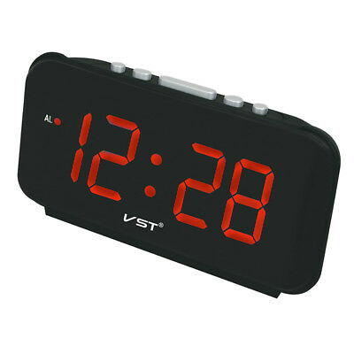 Digital LED Snooze Electronic Alarm Clock with 1.8'' Large Screen Display