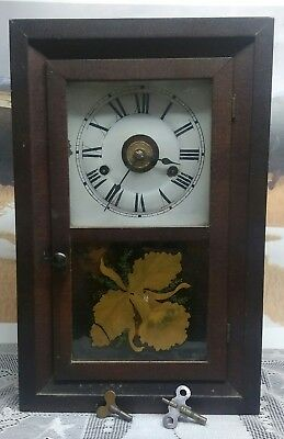 Seth Thomas cottage clock, wood, Antique, circa 1890's works perfectly