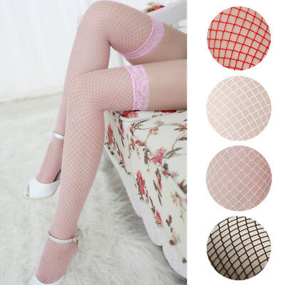 High Quality Sexy Women Lace Top Fishnet Thigh High Stockings Clubwear Pantyhose