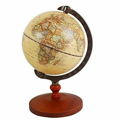 High Quality 5 inch Tiny BROWN Vintage World Globe Wooden Antique Decor Gifts