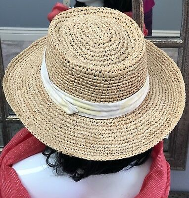 6cfe6c4350746 TOMMY BAHAMA STRAW Hat Beach Hat 100-% Natural Fibers One Size ...