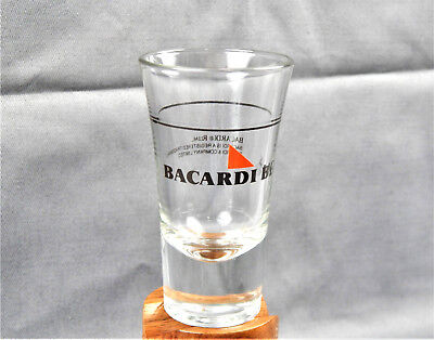 """Bacardi Black Rum 3.5"""" Tall Advertising 1.5 oz Shot Glass-Excellent Condition!"""