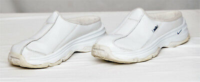 NIKE~WOMEN'S AFTERPARTY II White Leather Mule Sneakers