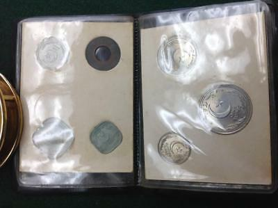 Pakistan 7 Coin Mint Set 1948 First Issue in Black Case Nice set