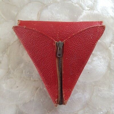 RARE Antique Czech Triangle Travel Sewing Kit Zalom Thread VNTG Needle Case