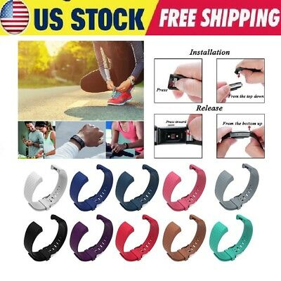 10-Pack For Fitbit Charge 2 Band Wristband Silicone Strap Fitness Small / Large