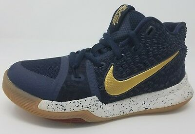 best service 60697 025db NIKE KYRIE 3 III Obsidian Gold Navy White Gum Size 1Y Youth 2017