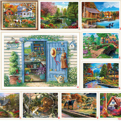 House DIY 5D Diamond Painting Embroidery Village Cross Stitch Kits Home Decor