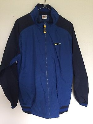 5e98fdca1e Vintage Nike Men s Windbreaker Jacket Size XL Blue Yellow Swoosh 80 s 90 s