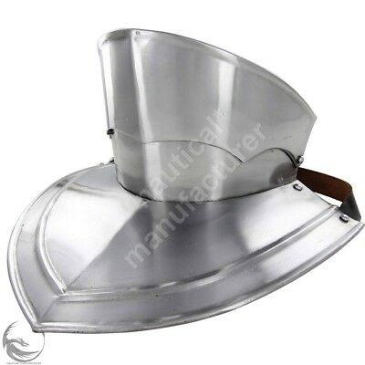 Collectibles Medieval Templar Knight Steel Armour Gorget With Bevor Reenactment