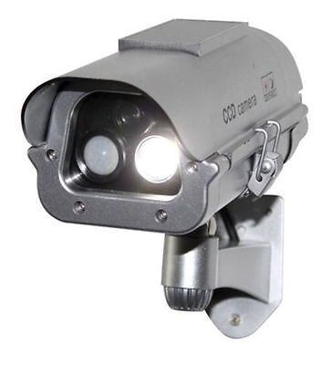 Solar Powered CCTV Security Fake Dummy Camera With Flash Lights+Human Sensor