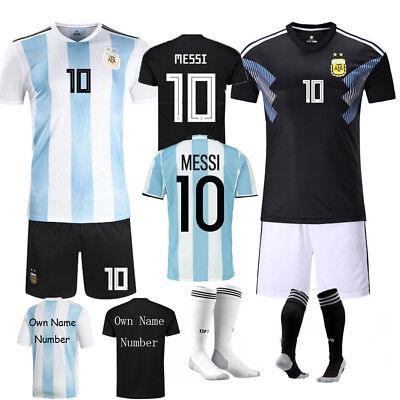 17-18 Soccer Jersey Football Kits 3-14 Yrs Shirt Boys Kids Kits & Socks