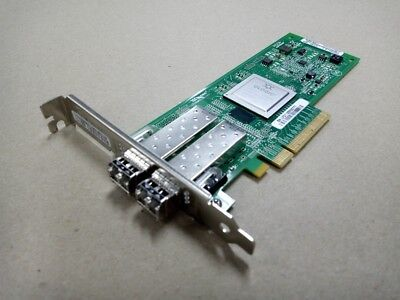 Qlogic QLE2562 DELL HP IBM  Dual Port 8GB HBA FC PCIe Full Profile Adapter w/SFP