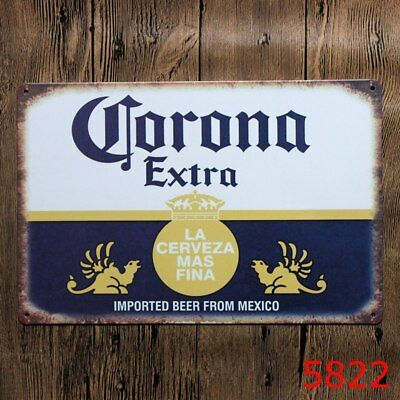 CORONA Extra Mexico Imported Beer Metal Tin Sign Tarvern Bar Pub Brewery Deco Ad