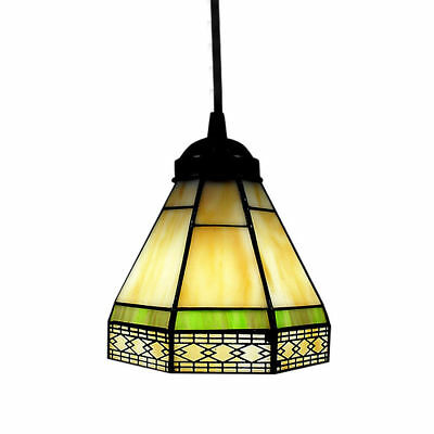 Vintage Stained Glass Tiffany Style Pendant Light Ceiling
