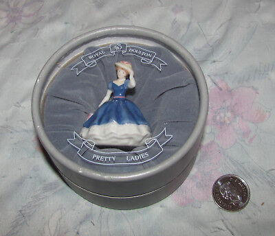 "Royal Doulton Pretty Ladies Miniatures 2002 Mary in box. 2"" tall"