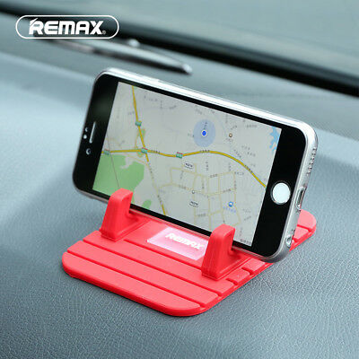 Remax Silicon Car Dashboard Mount Stand Desk Phone Holder For iPhone Samsung GPS