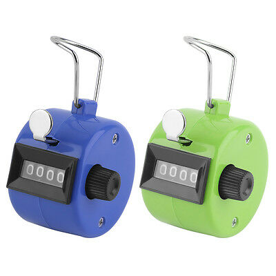 Digital Hand Held Tally Clicker Counter 4 Digit Number Clicker Golf Chrome HY