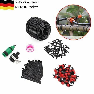 25M Water Irrigation Kit Drip Watering System Automatic Plant Garden Tool -DHL