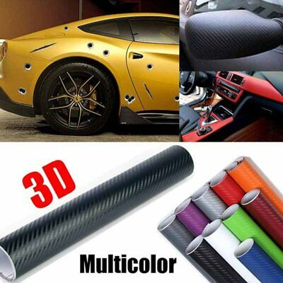 Carbon Fiber Car Styling 127 X 10cm 3D Car Sticker Vehicle Waterproof
