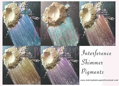Cosmetic Sparkle Interference Mica Pigment for eyeshadow, Nail Glitter Mermaid