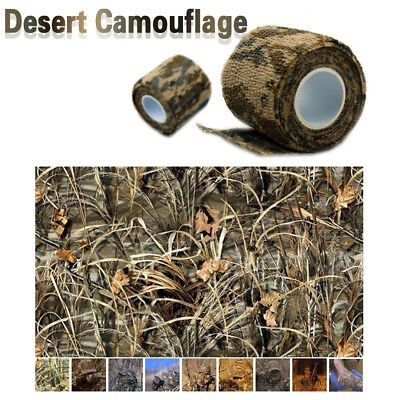 5CMx4.5M Army Hiking Camping Hunt Camouflage Stealth Camo Tape Wraps Waterproof