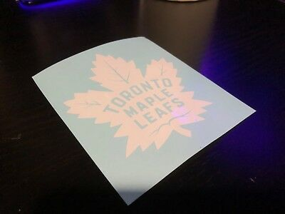 Toronto Maple Leafs NHL Team Logo Vinyl Decal Sticker Car Window Wall - White