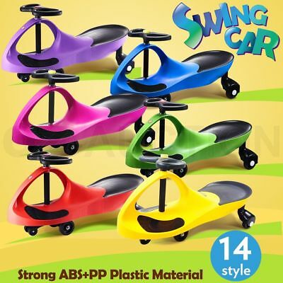 Swing Car Ride On Swivel Scooter Childrens Toy Kids Wiggle Gyro Twist & Go Toy