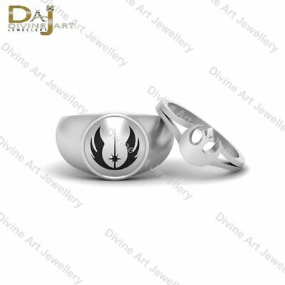 Jedi Rebel Alliance Ring Wedding Band Set Star Wars Ring Couple Engagement Rings