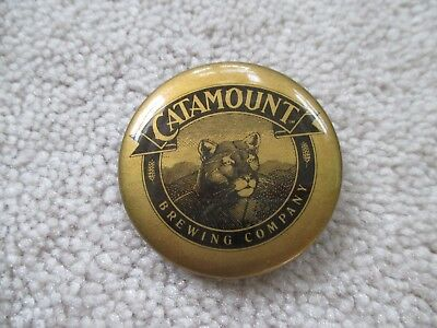 Catamount Brewing Company Pinback  Button Vermont