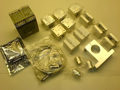 JOB LOT DIY CNC PARTS - BOB - SBR20UU Blocks Flex Couplers Safety Relay