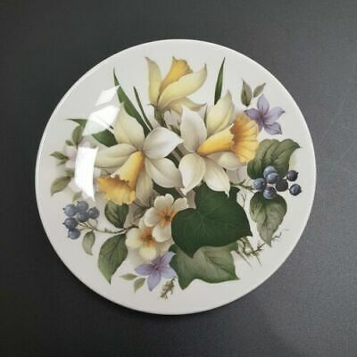 Vintage CROWN STAFFORDSHIRE Decorative Hanging Plate 19.5cm - Floral Daffodil