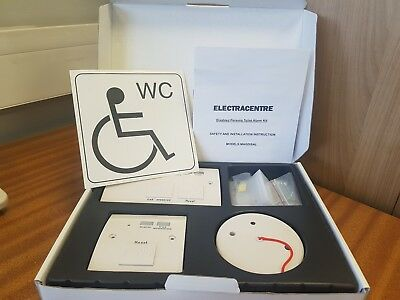 Disabled persons toilet alarm kit pull cord with  braille on buttons (MAGDISAL)