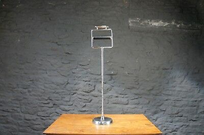 Art Deco Toilet Roll Holder with Cigarette Rest in Chrome - Vintage 1930's