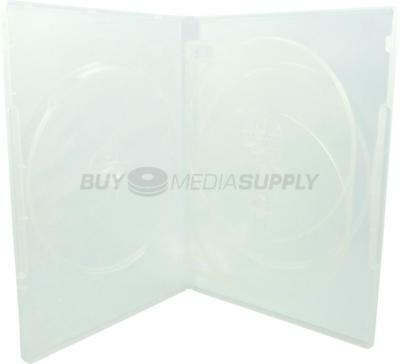 14mm Standard Clear Quad 4 Discs DVD Case - 7 Piece