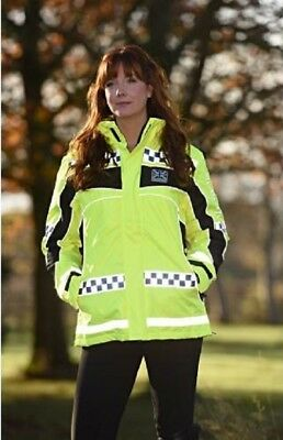 Equisafety Polite Inverno Hi-Vis Reversible Reflective Jacket Yellow Child/Adult