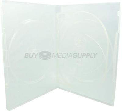 14mm Standard Clear Quad 4 Discs DVD Case - 100 Pack